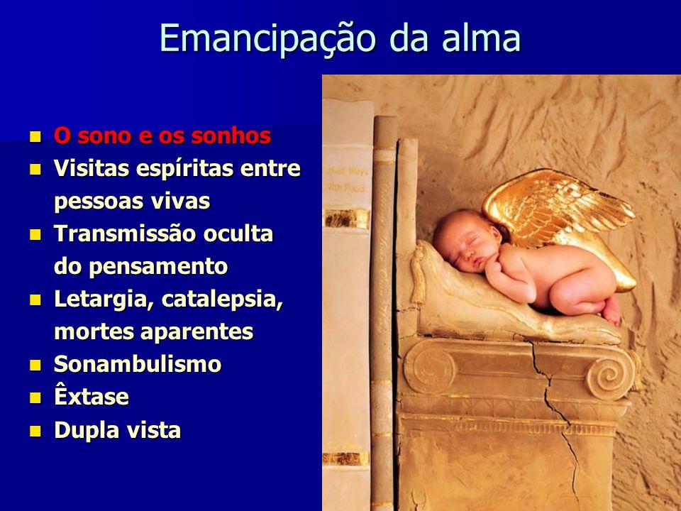 Emancipação da alma Capítulo VIII do Livro dos Espíritos de Alan Kardec Emancipação - ato ou efeito de emancipar (do Lat.