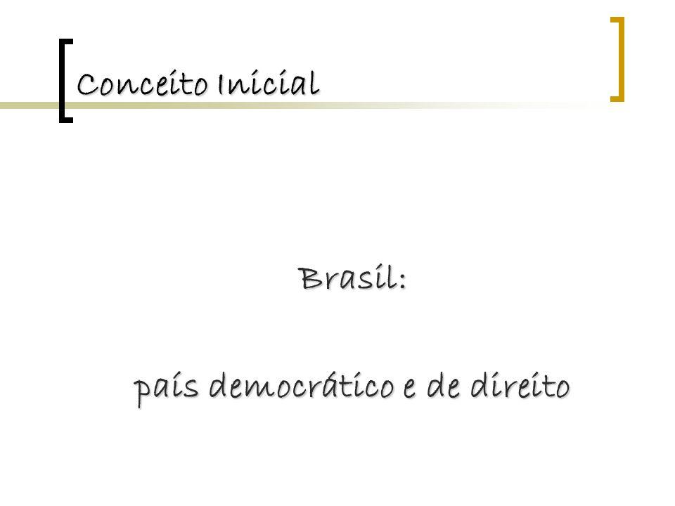 Conceito Inicial Brasil: país democrático e de direito