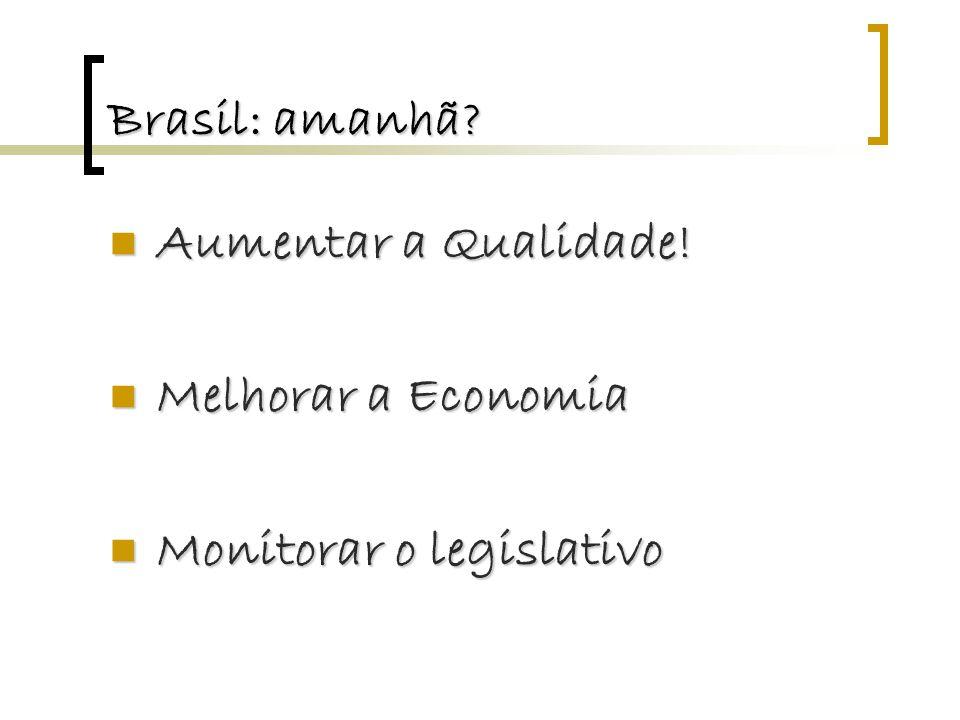 Brasil: amanhã. Aumentar a Qualidade. Aumentar a Qualidade.