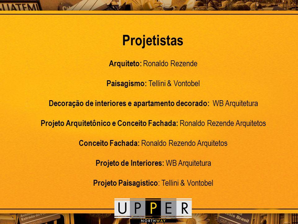 Arquiteto: Ronaldo Rezende Paisagismo: Tellini & Vontobel Decoração de interiores e apartamento decorado: WB Arquitetura Projeto Arquitetônico e Conce