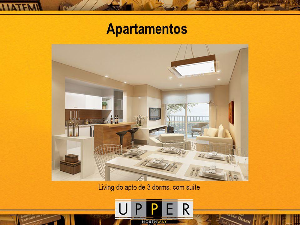 Apartamentos Living do apto de 3 dorms. com suíte