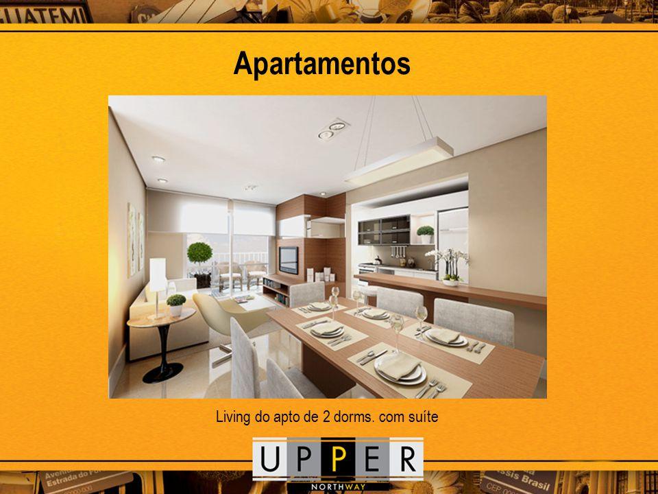 Apartamentos Living do apto de 2 dorms. com suíte