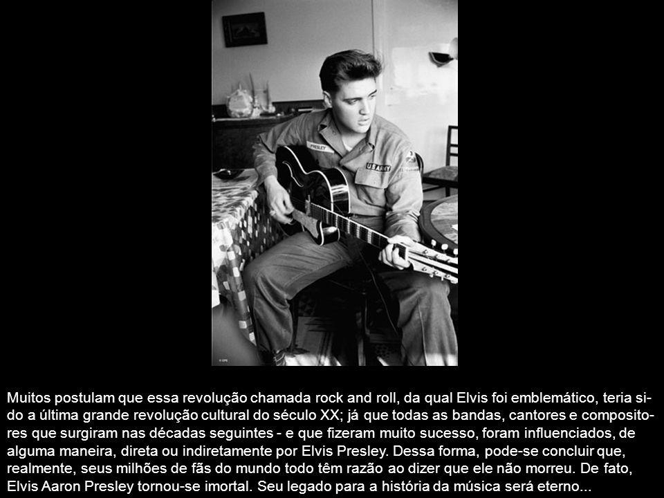 Em 1956, Elvis tornou-se uma sensação internacional. Com um som e estilo que, uníssonos, sinte- tizavam suas diversas influências, ameaçavam a socieda