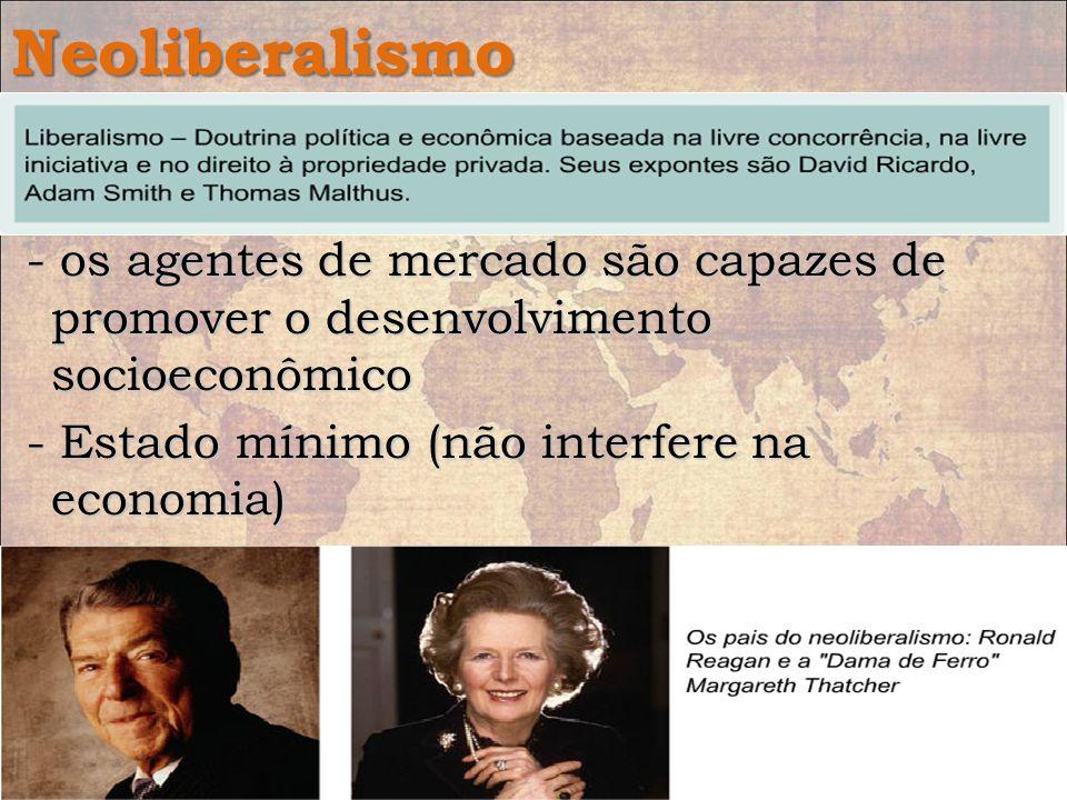 Neoliberalismo Doutrina política e econômica pregada a partir da década de 1970. Doutrina política e econômica pregada a partir da década de 1970. - o
