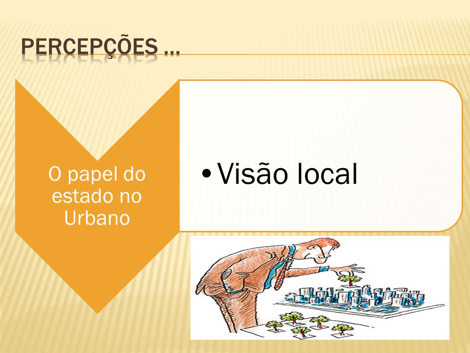 O papel do estado no Urbano Visão local