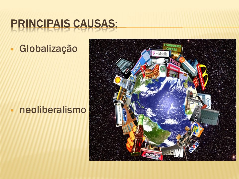  Globalização  neoliberalismo