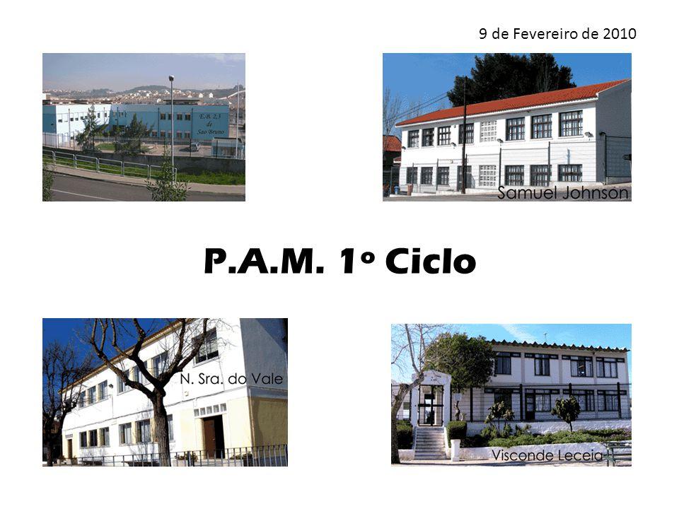 P.A.M. 1º Ciclo 9 de Fevereiro de 2010