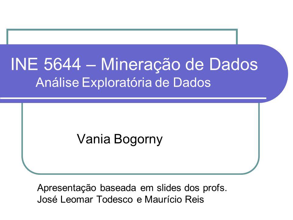 INE 5644 – Mineração de Dados Análise Exploratória de Dados Vania Bogorny Apresentação baseada em slides dos profs. José Leomar Todesco e Maurício Rei