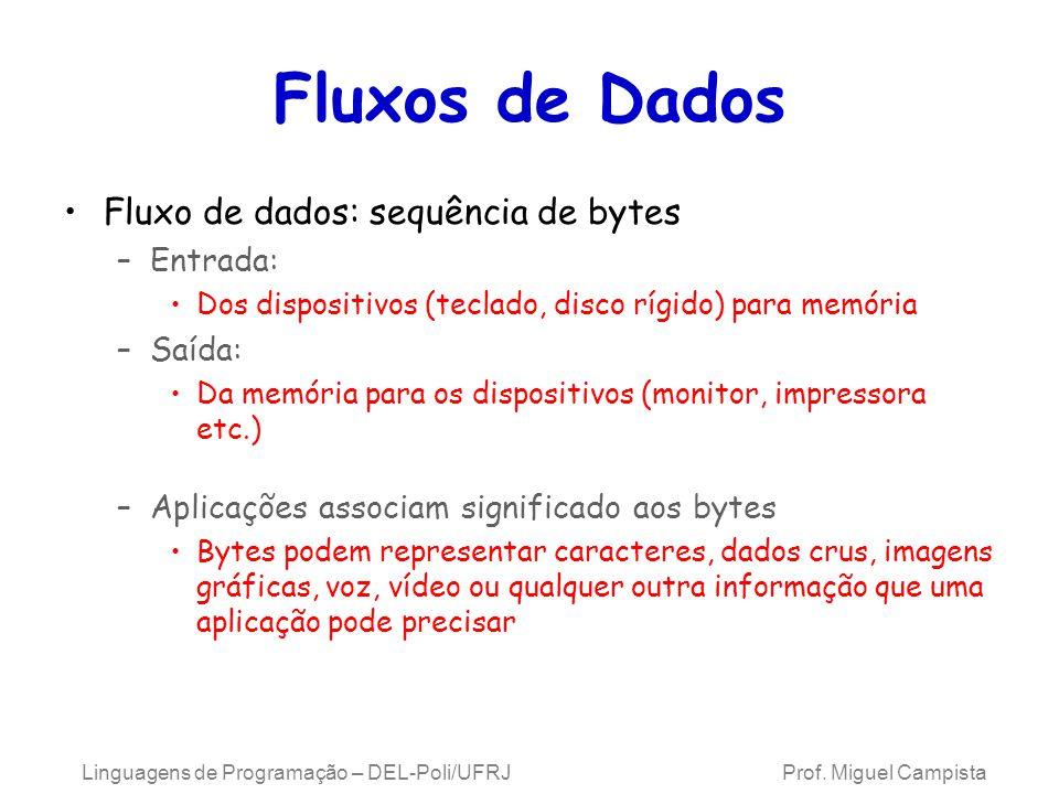 Nono Exemplo Usando E/S de Fluxo de Dados