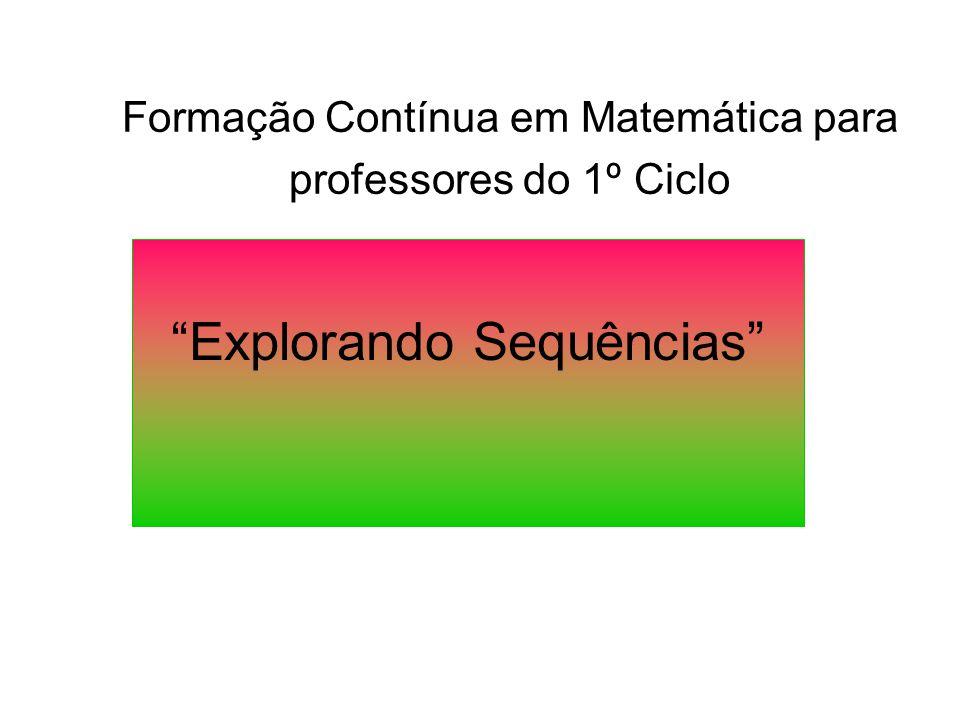 """Formação Contínua em Matemática para professores do 1º Ciclo """"Explorando Sequências"""""""