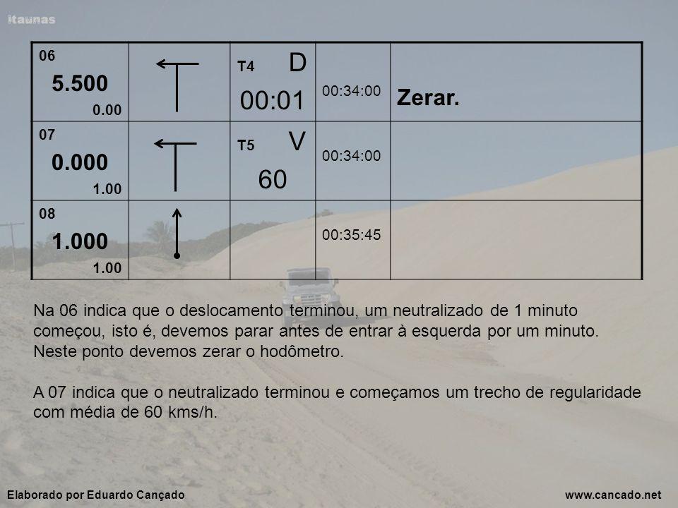 06 5.500 0.00 T4 D 00:01 00:34:00 Zerar. 07 0.000 1.00 T5 V 60 00:34:00 08 1.000 1.00 00:35:45 Na 06 indica que o deslocamento terminou, um neutraliza