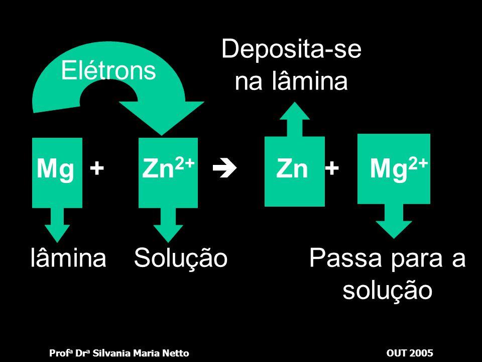 Prof a Dr a Silvania Maria NettoOUT 2005 Qual a equação química correspondente a essa deposição? Clique na figura ao lado e veja a resposta.