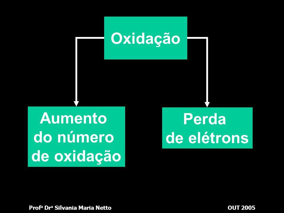 Prof a Dr a Silvania Maria NettoOUT 2005 Atualmente, as pesquisas sobre oxirredução exercem profunda influência na Bioquímica, nos estudos sobre polui