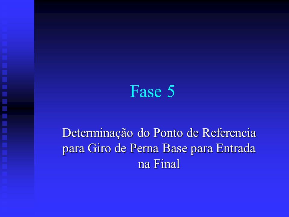 Fase 5 Determinação do Ponto de Referencia para Giro de Perna Base para Entrada na Final