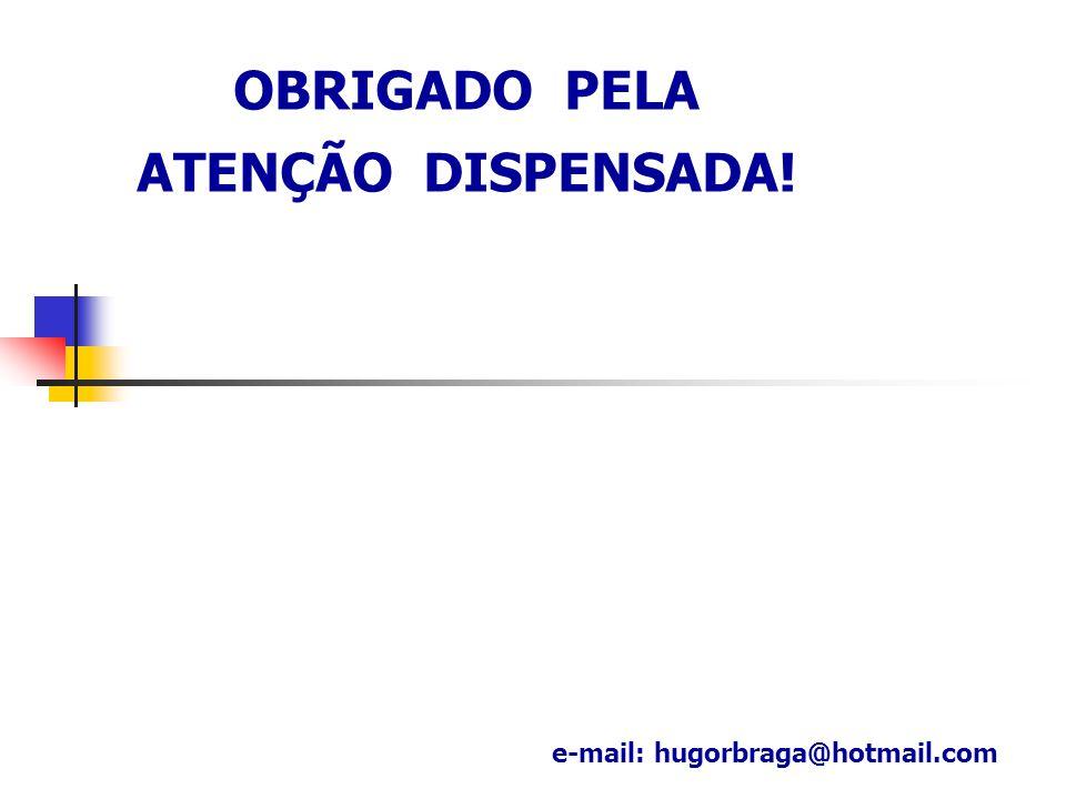OBRIGADO PELA ATENÇÃO DISPENSADA! e-mail: hugorbraga@hotmail.com