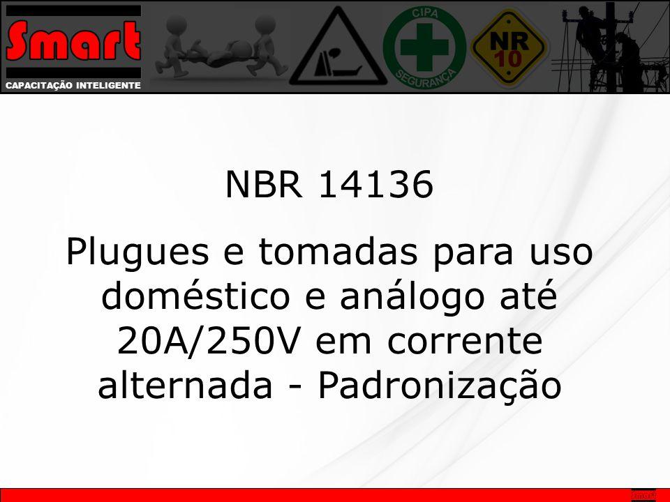 CAPACITAÇÃO INTELIGENTE NBR 14136 Plugues e tomadas para uso doméstico e análogo até 20A/250V em corrente alternada - Padronização