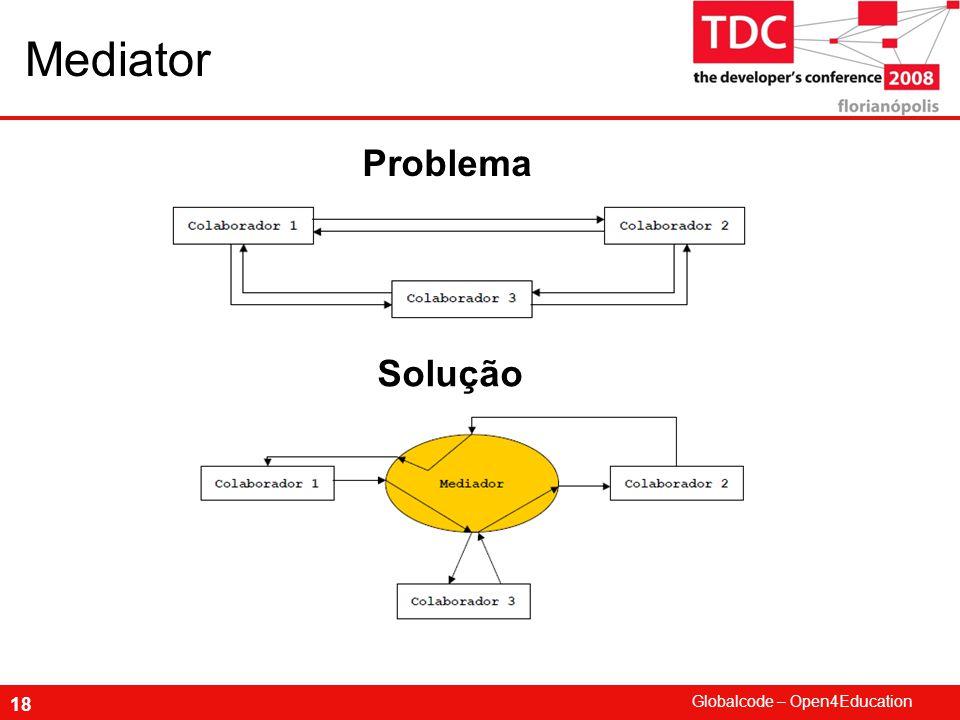 Globalcode – Open4Education 18 Mediator Problema Solução