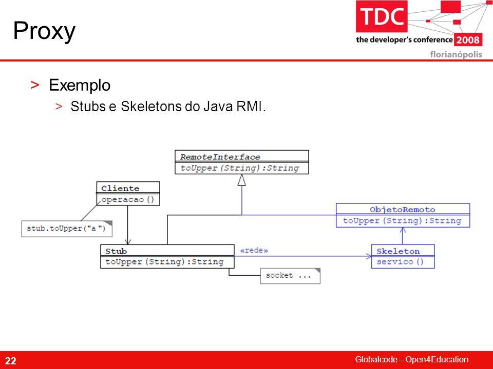 Globalcode – Open4Education 22 Proxy >Exemplo >Stubs e Skeletons do Java RMI.