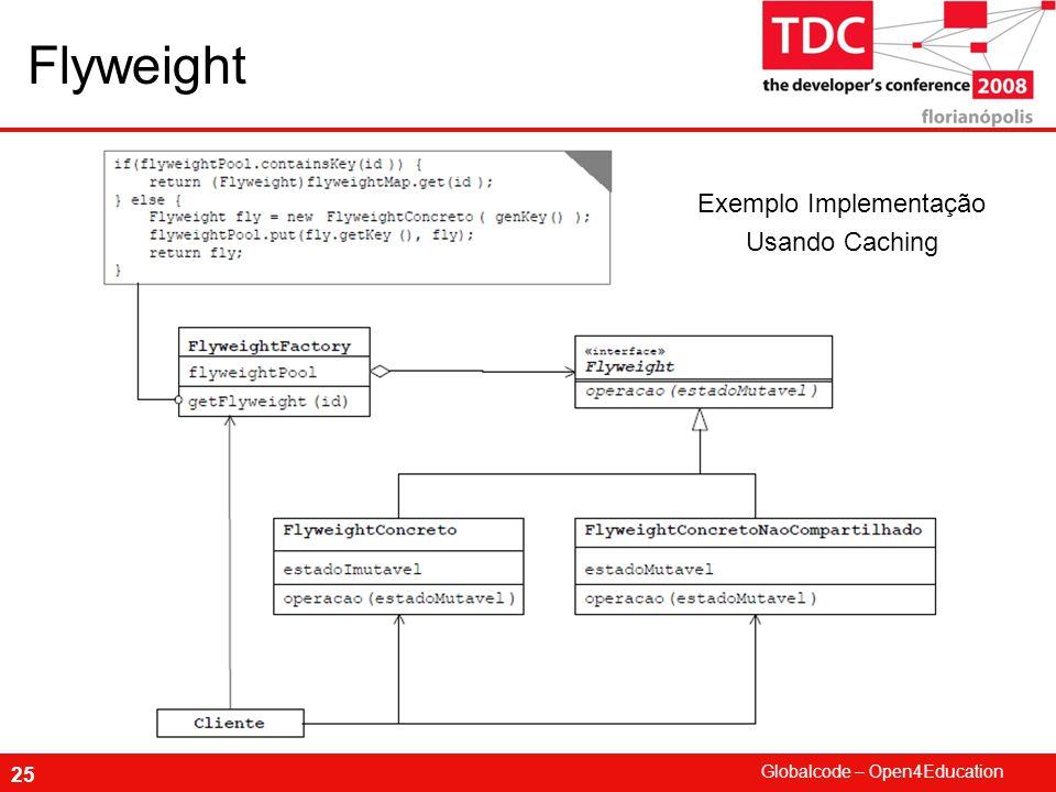 Globalcode – Open4Education 25 Flyweight Exemplo Implementação Usando Caching