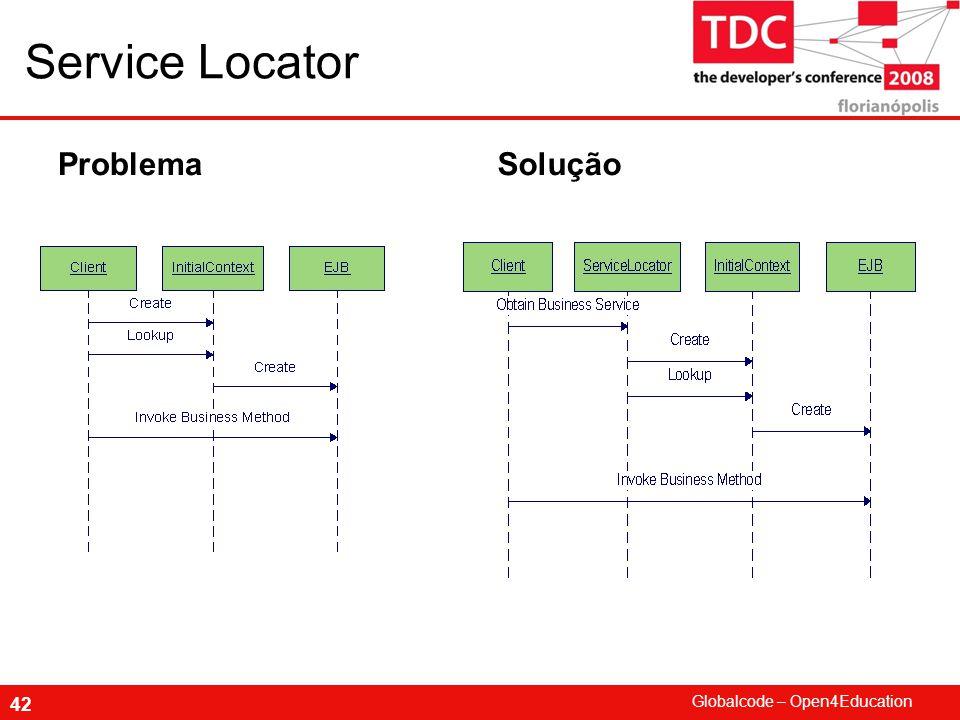 Globalcode – Open4Education 42 Service Locator ProblemaSolução