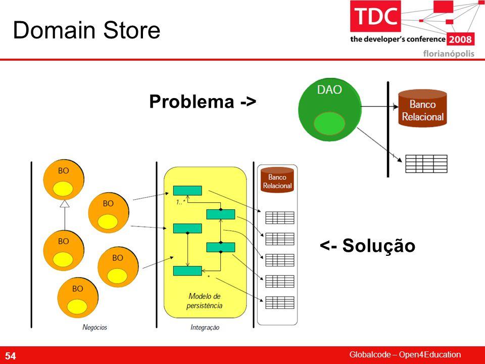 Globalcode – Open4Education 54 Domain Store Problema -> <- Solução