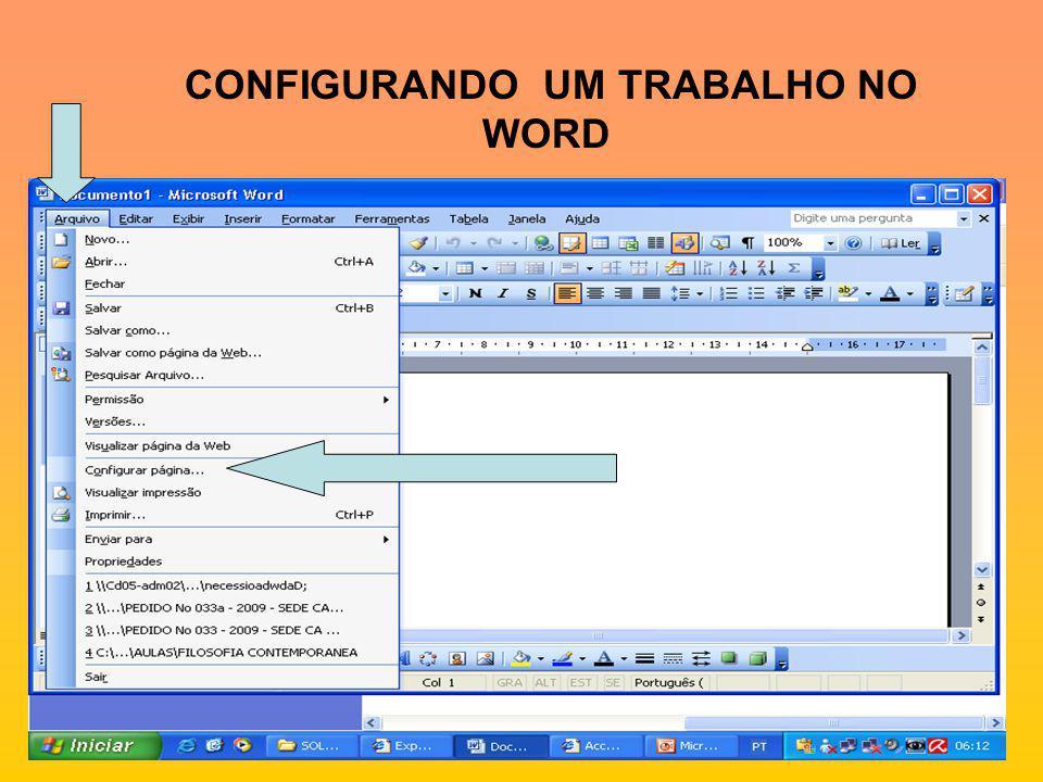 Tipos de arquivos gráficos que o Word pode usar Metarquivo avançado (.emf) Formato GIF (.gif) Arquivo JPEG (.jpg) Formato PNG (.png) Bitmap do Microsoft Windows (.bmp,.rle,.dib) Metarquivo do Windows (.wmf) Formato TIFF (.tif) Arquivo Encapsulated