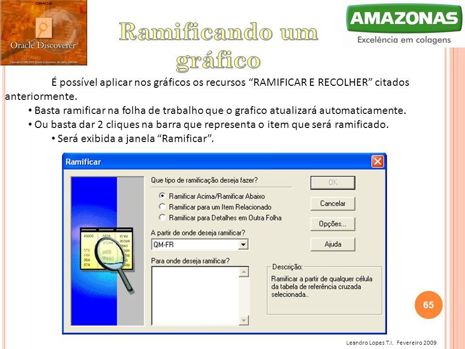 """Leandro Lopes T.I. Fevereiro 2009 É possível aplicar nos gráficos os recursos """"RAMIFICAR E RECOLHER"""" citados anteriormente. Basta ramificar na folha d"""