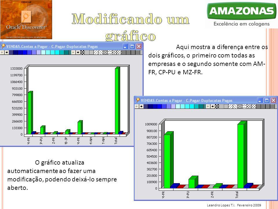 Leandro Lopes T.I. Fevereiro 2009 Aqui mostra a diferença entre os dois gráficos, o primeiro com todas as empresas e o segundo somente com AM- FR, CP-