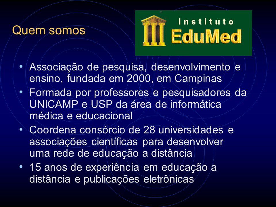 Quem somos Associação de pesquisa, desenvolvimento e ensino, fundada em 2000, em Campinas Formada por professores e pesquisadores da UNICAMP e USP da