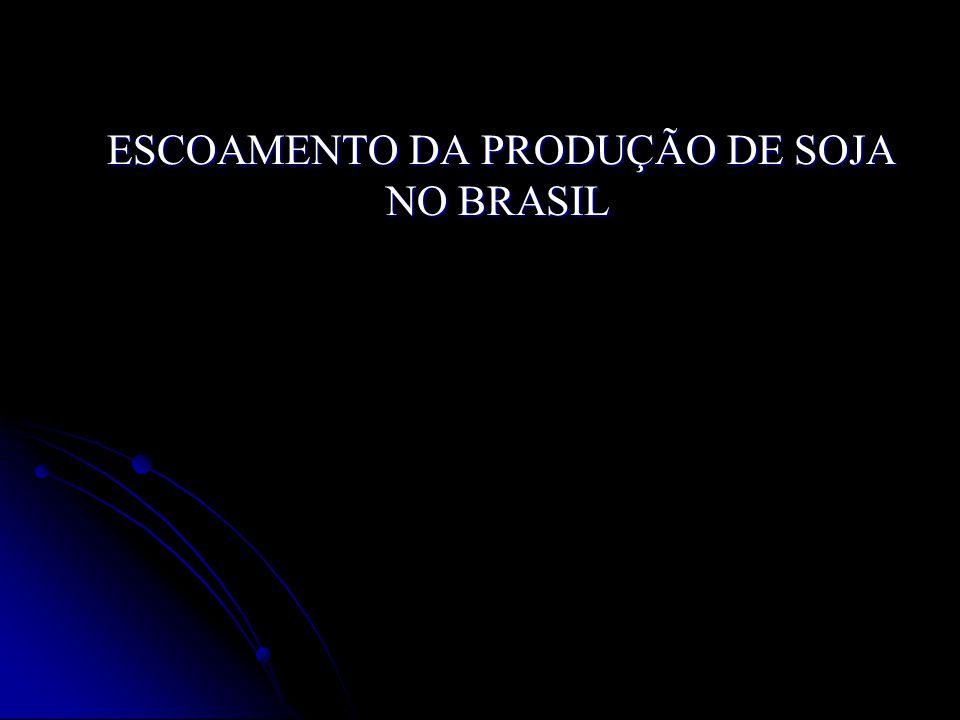 ESCOAMENTO DA PRODUÇÃO DE SOJA NO BRASIL ESCOAMENTO DA PRODUÇÃO DE SOJA NO BRASIL