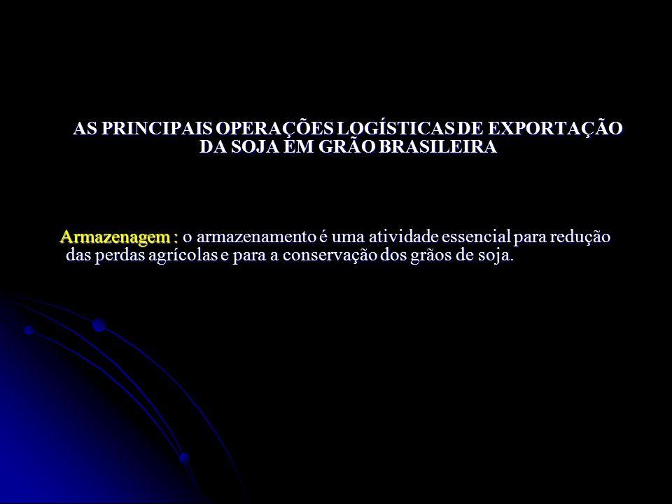 AS PRINCIPAIS OPERAÇÕES LOGÍSTICAS DE EXPORTAÇÃO DA SOJA EM GRÃO BRASILEIRA AS PRINCIPAIS OPERAÇÕES LOGÍSTICAS DE EXPORTAÇÃO DA SOJA EM GRÃO BRASILEIR