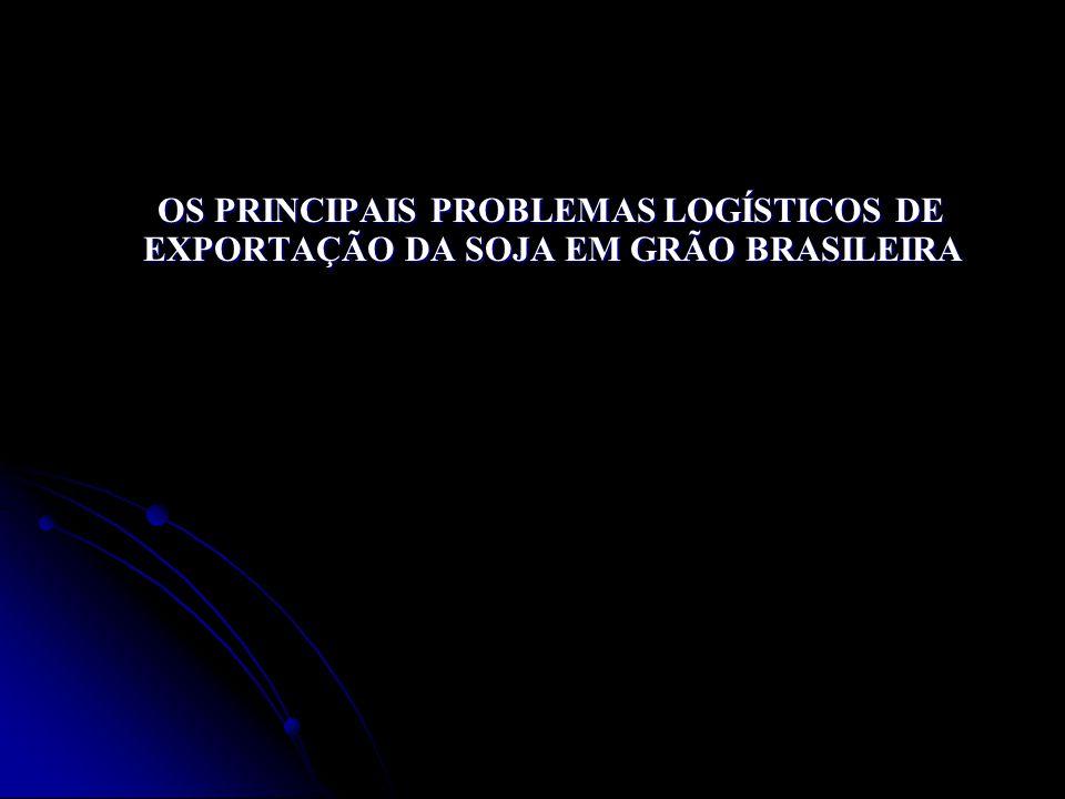 OS PRINCIPAIS PROBLEMAS LOGÍSTICOS DE EXPORTAÇÃO DA SOJA EM GRÃO BRASILEIRA OS PRINCIPAIS PROBLEMAS LOGÍSTICOS DE EXPORTAÇÃO DA SOJA EM GRÃO BRASILEIR