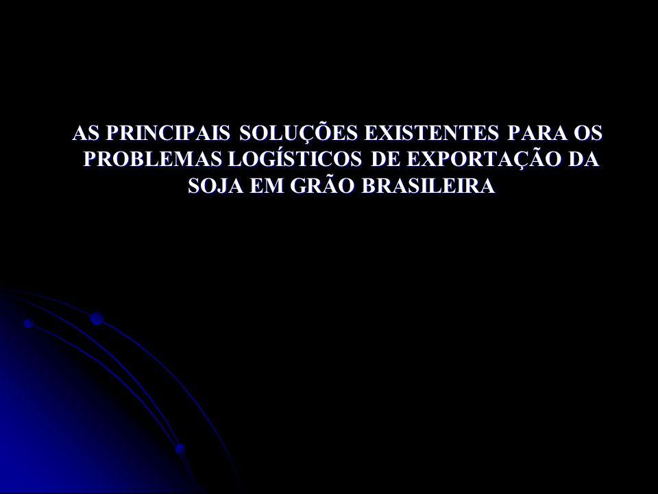 AS PRINCIPAIS SOLUÇÕES EXISTENTES PARA OS PROBLEMAS LOGÍSTICOS DE EXPORTAÇÃO DA SOJA EM GRÃO BRASILEIRA AS PRINCIPAIS SOLUÇÕES EXISTENTES PARA OS PROB