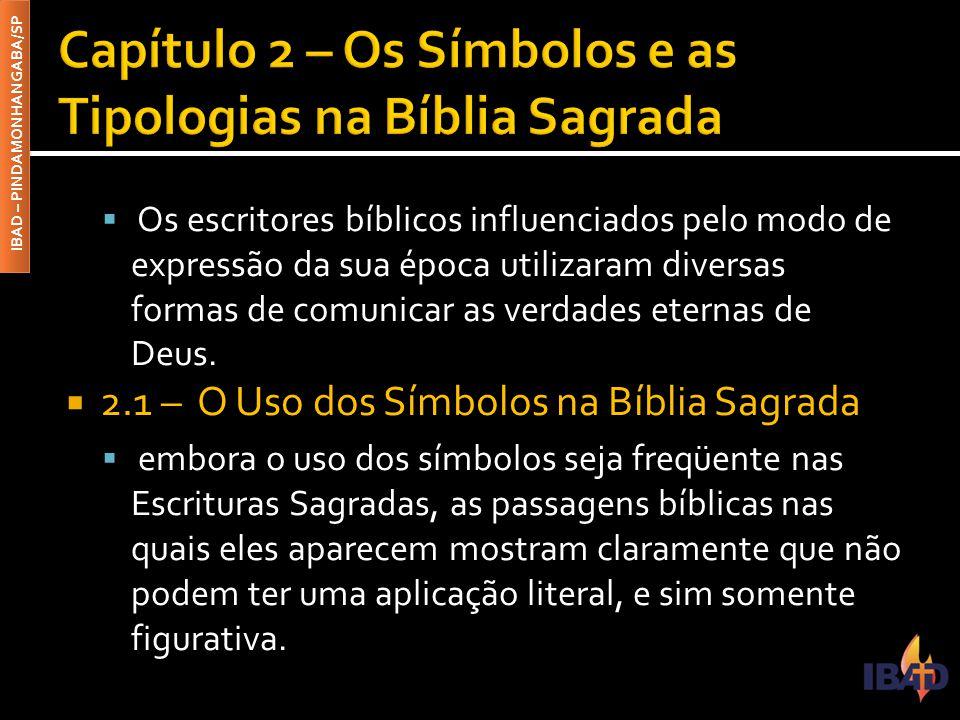 IBAD – PINDAMONHANGABA/SP  Os escritores bíblicos influenciados pelo modo de expressão da sua época utilizaram diversas formas de comunicar as verdades eternas de Deus.