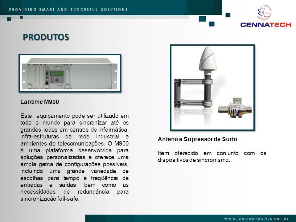 PRODUTOS Lantime M900 Este equipamento pode ser utilizado em todo o mundo para sincronizar até os grandes redes em centros de informática, infra-estru