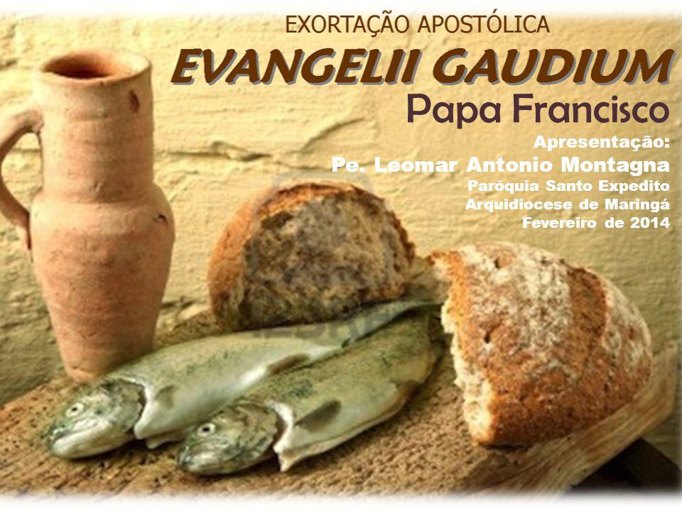 Papa Francisco Apresentação: Pe. Leomar Antonio Montagna Paróquia Santo Expedito Arquidiocese de Maringá Fevereiro de 2014