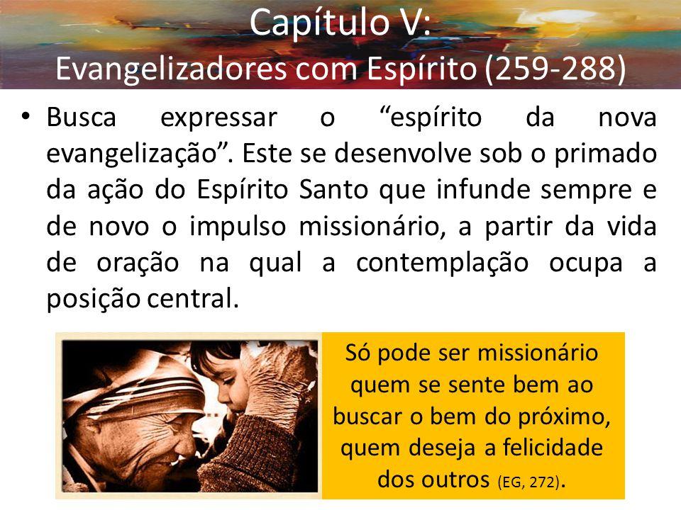 """Busca expressar o """"espírito da nova evangelização"""". Este se desenvolve sob o primado da ação do Espírito Santo que infunde sempre e de novo o impulso"""