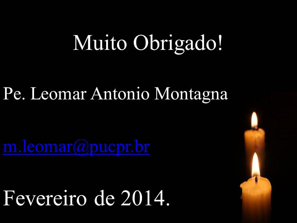 Muito Obrigado! Pe. Leomar Antonio Montagna m.leomar@pucpr.br Fevereiro de 2014.