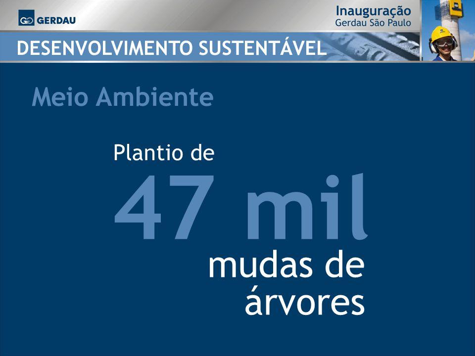 47 mil Plantio de mudas de árvores DESENVOLVIMENTO SUSTENTÁVEL Meio Ambiente