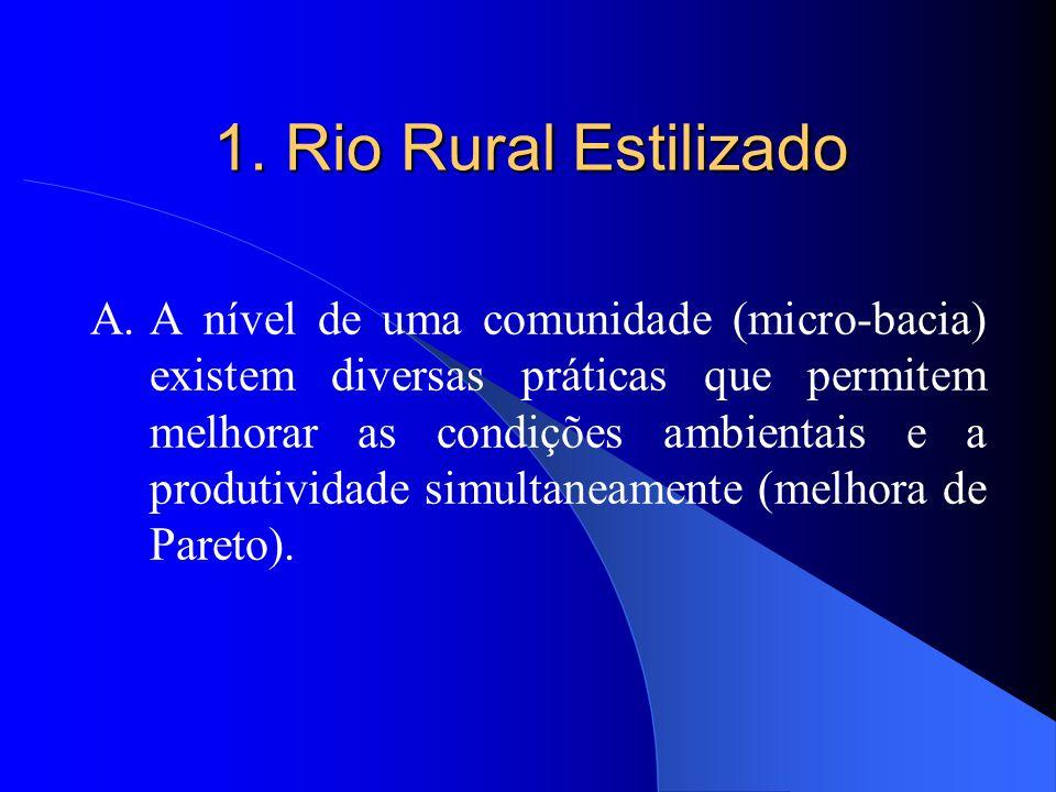1. Rio Rural Estilizado A.A nível de uma comunidade (micro-bacia) existem diversas práticas que permitem melhorar as condições ambientais e a produtiv