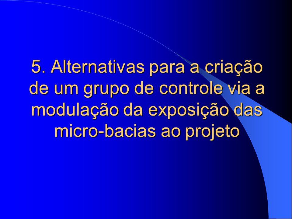 5. Alternativas para a criação de um grupo de controle via a modulação da exposição das micro-bacias ao projeto
