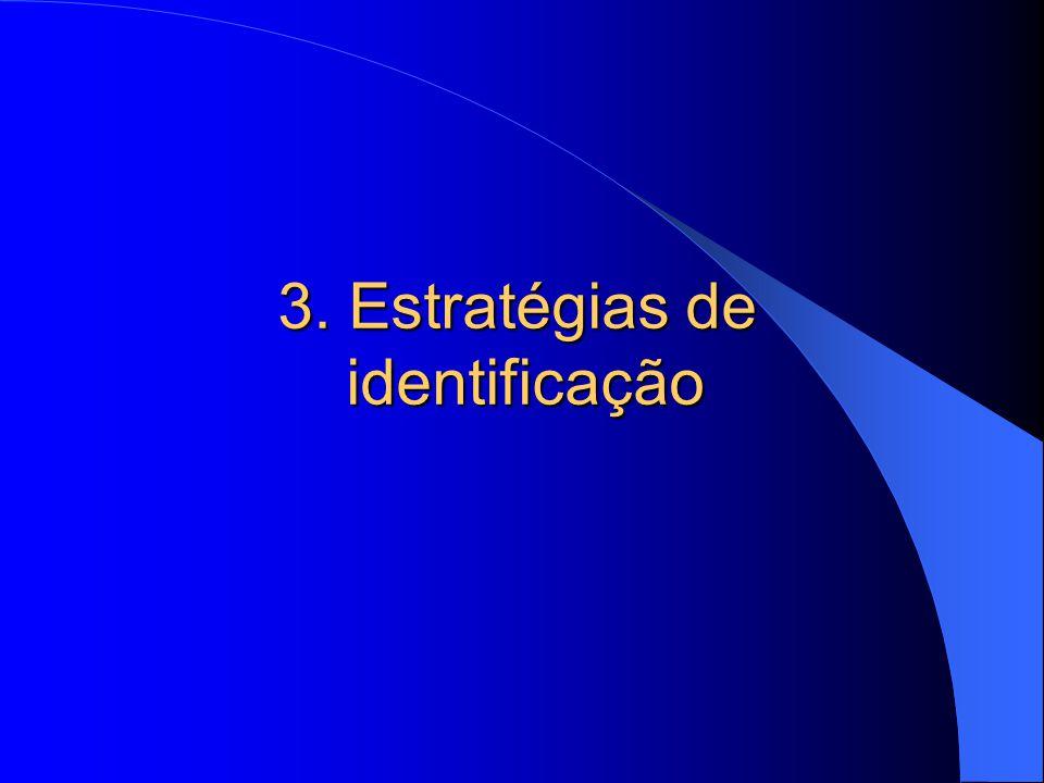 3. Estratégias de identificação