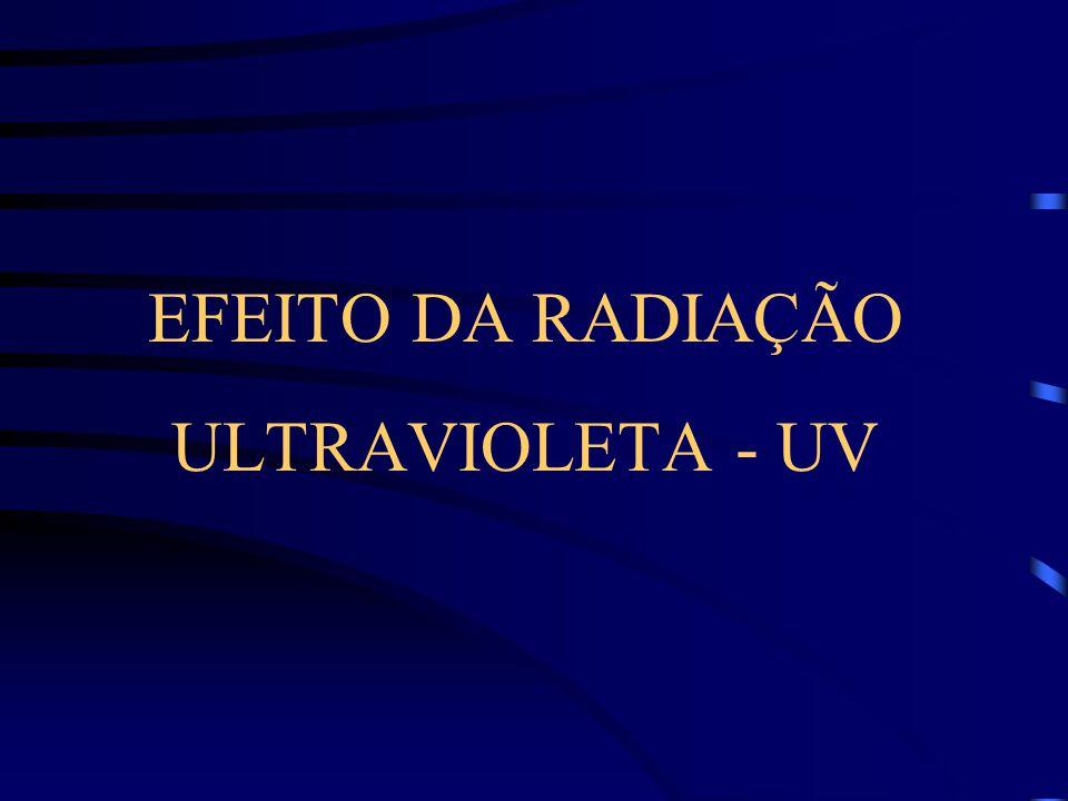 EFEITO DA RADIAÇÃO ULTRAVIOLETA - UV