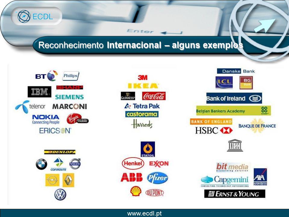 www.ecdl.pt Reconhecimento Internacional – alguns exemplos