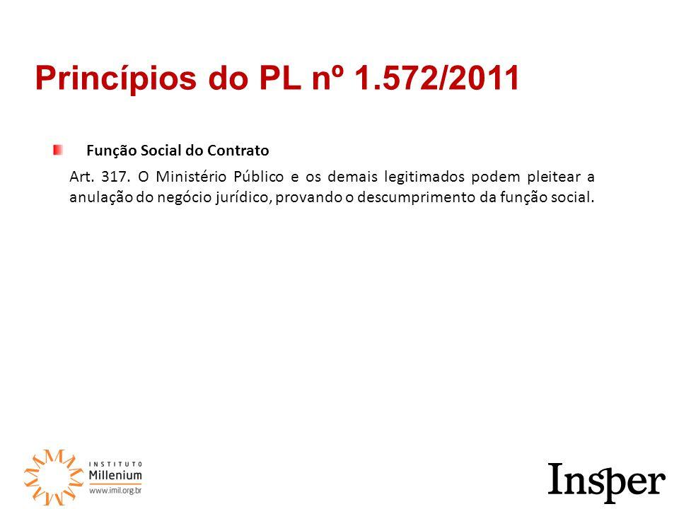 Função Social do Contrato Art. 317.
