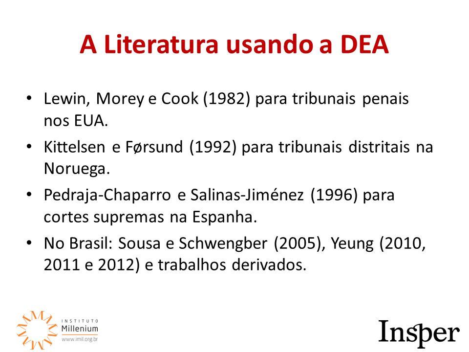 A Literatura usando a DEA Lewin, Morey e Cook (1982) para tribunais penaisnos EUA.
