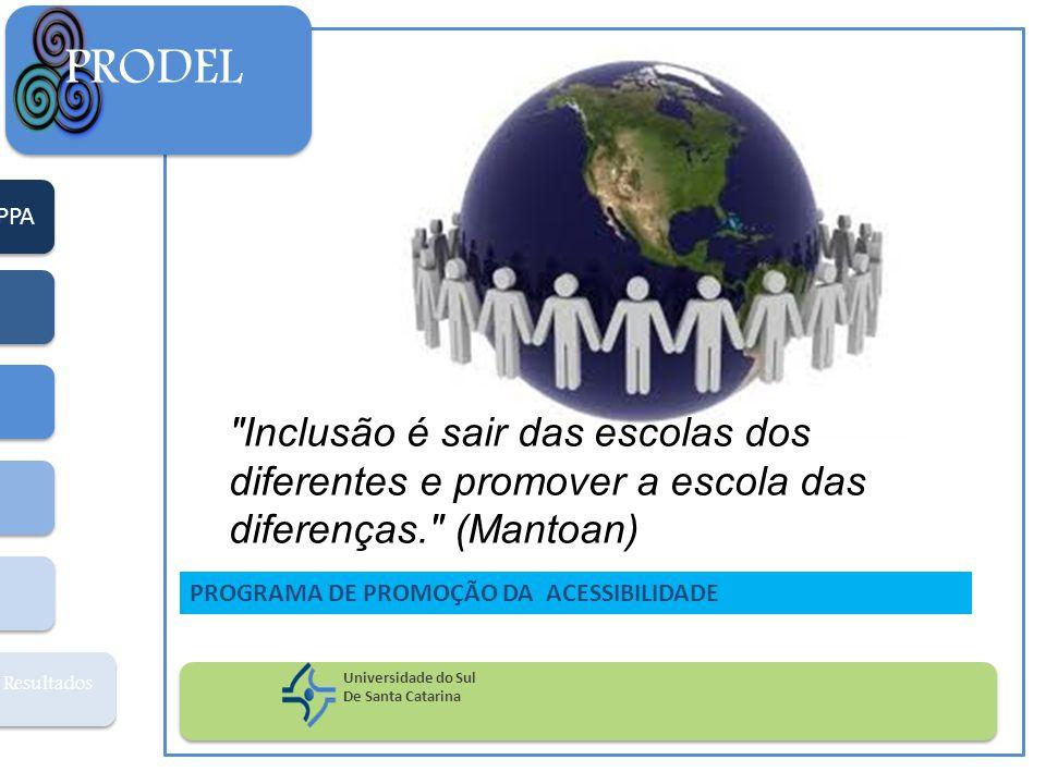 PPA Resultados PRODEL Universidade do Sul De Santa Catarina PROGRAMA DE PROMOÇÃO DA ACESSIBILIDADE