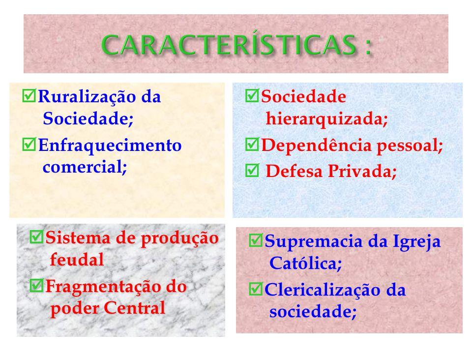 O feudalismo foi um sistema econômico, social político e cultural predominantemente na Idade Média. ORIGEM e CARACTERÍSTICAS: O processo de decadência
