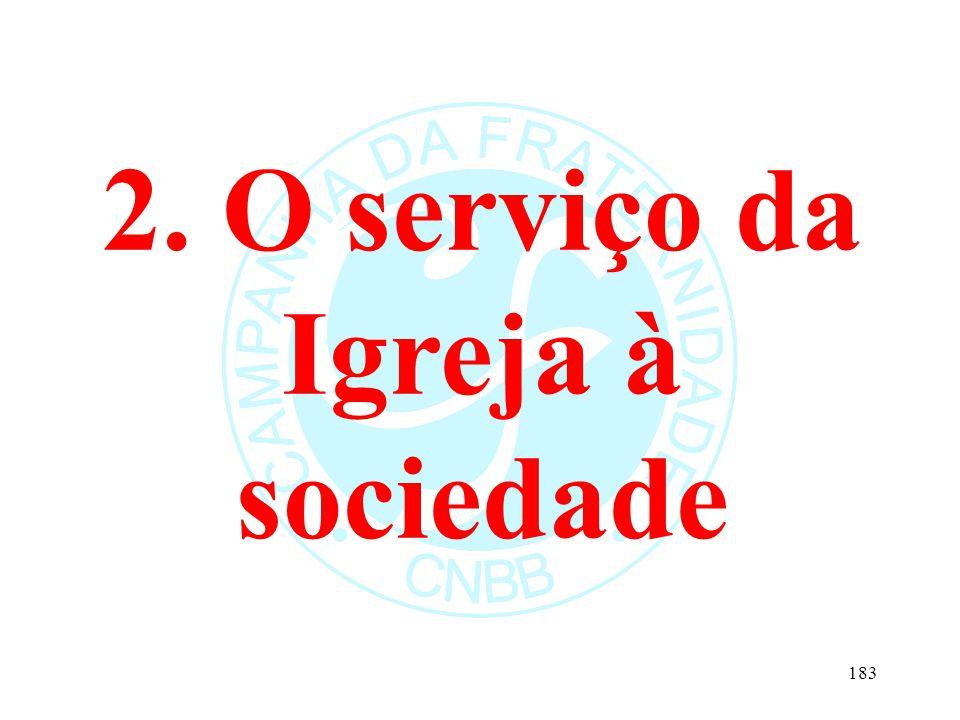2. O serviço da Igreja à sociedade 183