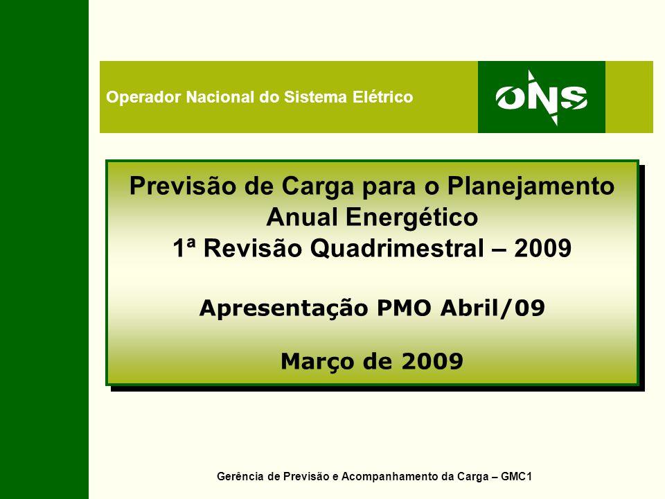 Revisão das previsões de carga para o PEN 2009-2013 - por subsistema